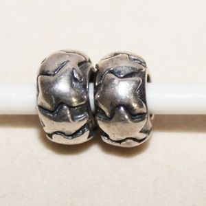 "Retired Pandora ""Shooting Star"" Spacers EUC"